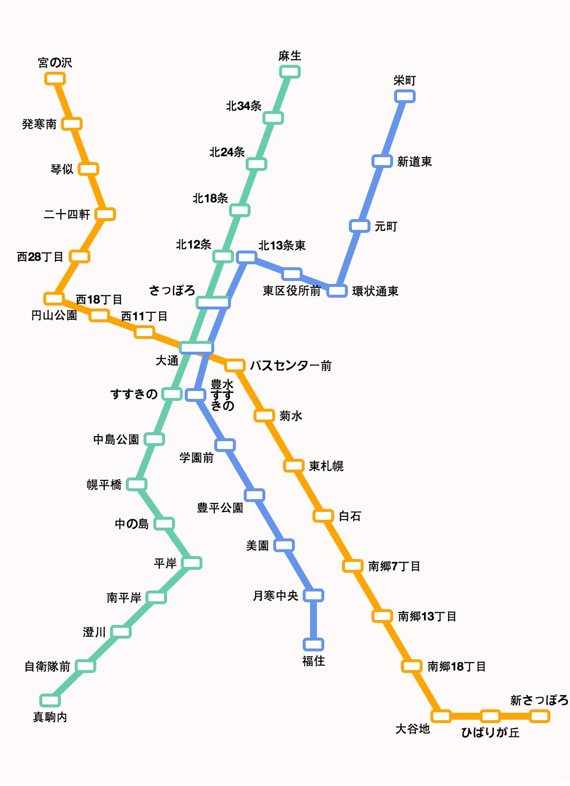 札幌 から 澄川 駅 駅